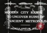 Image of workers Herculaneum Italy, 1932, second 2 stock footage video 65675061020