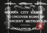 Image of workers Herculaneum Italy, 1932, second 3 stock footage video 65675061020