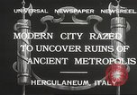 Image of workers Herculaneum Italy, 1932, second 7 stock footage video 65675061020