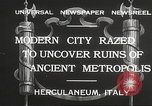 Image of workers Herculaneum Italy, 1932, second 8 stock footage video 65675061020