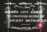 Image of workers Herculaneum Italy, 1932, second 11 stock footage video 65675061020
