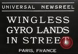 Image of wingless gyro airplane Paris France, 1934, second 1 stock footage video 65675061026