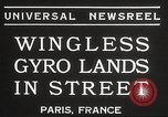 Image of wingless gyro airplane Paris France, 1934, second 2 stock footage video 65675061026