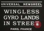 Image of wingless gyro airplane Paris France, 1934, second 3 stock footage video 65675061026