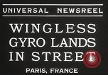 Image of wingless gyro airplane Paris France, 1934, second 8 stock footage video 65675061026