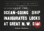 Image of freighter Charles L Wheeler Bonneville Oregon USA, 1938, second 1 stock footage video 65675061115