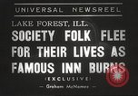 Image of Deer Path Inn Lake Forest Illinois USA, 1938, second 7 stock footage video 65675061118