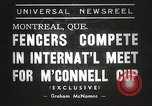 Image of fencers Montreal Quebec Canada, 1938, second 6 stock footage video 65675061119