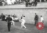 Image of fencers Montreal Quebec Canada, 1938, second 19 stock footage video 65675061119