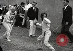Image of fencers Montreal Quebec Canada, 1938, second 24 stock footage video 65675061119