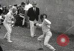 Image of fencers Montreal Quebec Canada, 1938, second 25 stock footage video 65675061119