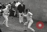 Image of fencers Montreal Quebec Canada, 1938, second 26 stock footage video 65675061119