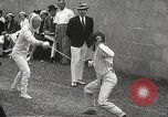 Image of fencers Montreal Quebec Canada, 1938, second 27 stock footage video 65675061119