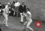 Image of fencers Montreal Quebec Canada, 1938, second 28 stock footage video 65675061119
