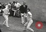 Image of fencers Montreal Quebec Canada, 1938, second 29 stock footage video 65675061119