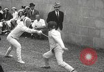 Image of fencers Montreal Quebec Canada, 1938, second 30 stock footage video 65675061119