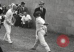 Image of fencers Montreal Quebec Canada, 1938, second 31 stock footage video 65675061119