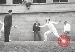 Image of fencers Montreal Quebec Canada, 1938, second 34 stock footage video 65675061119