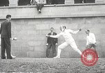 Image of fencers Montreal Quebec Canada, 1938, second 35 stock footage video 65675061119