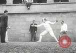 Image of fencers Montreal Quebec Canada, 1938, second 36 stock footage video 65675061119