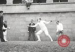 Image of fencers Montreal Quebec Canada, 1938, second 37 stock footage video 65675061119