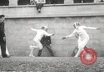 Image of fencers Montreal Quebec Canada, 1938, second 38 stock footage video 65675061119