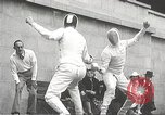 Image of fencers Montreal Quebec Canada, 1938, second 42 stock footage video 65675061119