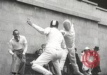 Image of fencers Montreal Quebec Canada, 1938, second 43 stock footage video 65675061119