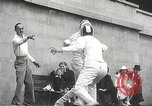 Image of fencers Montreal Quebec Canada, 1938, second 44 stock footage video 65675061119