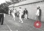 Image of fencers Montreal Quebec Canada, 1938, second 50 stock footage video 65675061119
