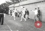 Image of fencers Montreal Quebec Canada, 1938, second 53 stock footage video 65675061119