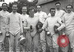 Image of fencers Montreal Quebec Canada, 1938, second 55 stock footage video 65675061119