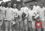 Image of fencers Montreal Quebec Canada, 1938, second 56 stock footage video 65675061119