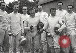 Image of fencers Montreal Quebec Canada, 1938, second 57 stock footage video 65675061119