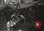 Image of burning building Camden New Jersey USA, 1940, second 25 stock footage video 65675061126