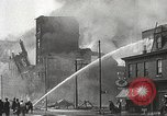 Image of burning building Camden New Jersey USA, 1940, second 36 stock footage video 65675061126
