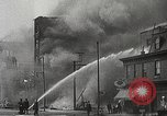 Image of burning building Camden New Jersey USA, 1940, second 55 stock footage video 65675061126