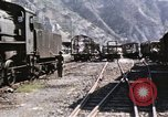 Image of damaged locomotives Sicily Italy, 1943, second 13 stock footage video 65675061152