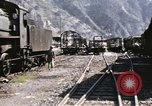 Image of damaged locomotives Sicily Italy, 1943, second 15 stock footage video 65675061152