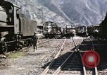 Image of damaged locomotives Sicily Italy, 1943, second 16 stock footage video 65675061152