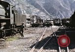 Image of damaged locomotives Sicily Italy, 1943, second 18 stock footage video 65675061152