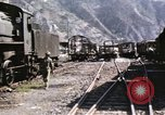 Image of damaged locomotives Sicily Italy, 1943, second 19 stock footage video 65675061152