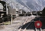 Image of damaged locomotives Sicily Italy, 1943, second 20 stock footage video 65675061152
