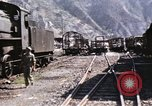 Image of damaged locomotives Sicily Italy, 1943, second 21 stock footage video 65675061152