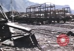 Image of damaged locomotives Sicily Italy, 1943, second 32 stock footage video 65675061152