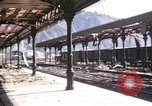 Image of damaged locomotives Sicily Italy, 1943, second 42 stock footage video 65675061152