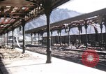 Image of damaged locomotives Sicily Italy, 1943, second 43 stock footage video 65675061152
