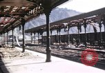 Image of damaged locomotives Sicily Italy, 1943, second 44 stock footage video 65675061152
