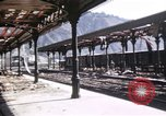 Image of damaged locomotives Sicily Italy, 1943, second 45 stock footage video 65675061152