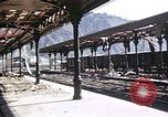 Image of damaged locomotives Sicily Italy, 1943, second 46 stock footage video 65675061152